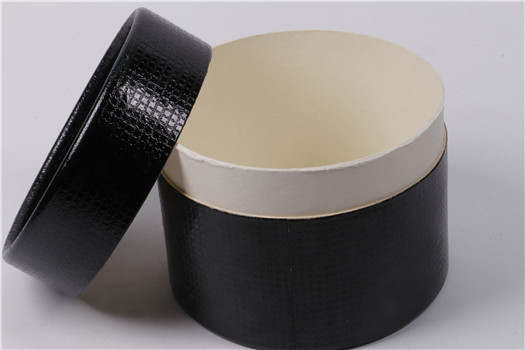 custom black biodegradable cardboard paper tube for packaging