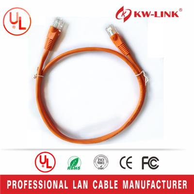 Cat6 Stranded UTP BC Patch Cable with RJ45, Orange
