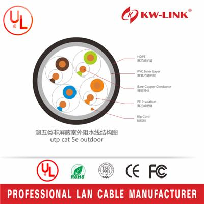 Cat5e UTP BC LSZH Outdoor Cable with PVC Jacket