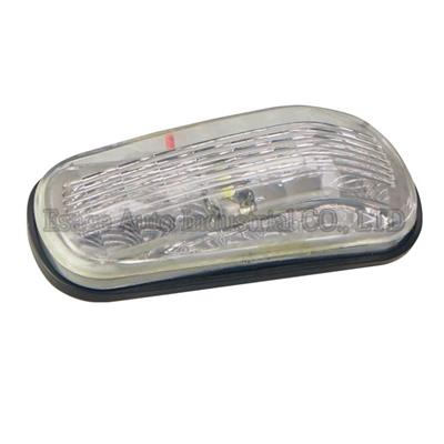 LED Oval 3''*1.26''*0.7'' Truck Boat Bus Trailer Clearance Light And Marker Light W/ 2 LEDs