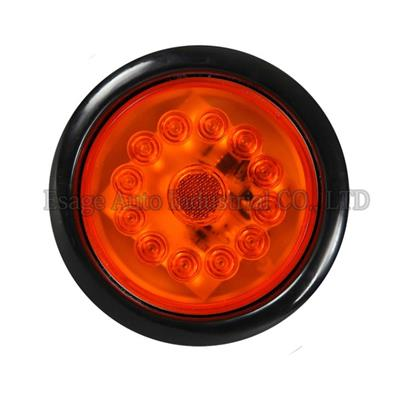 PVC Rubber Round LED Truck And Trailer Light – 4'' Tail/Stop/Turn Light W/ 16 LEDs