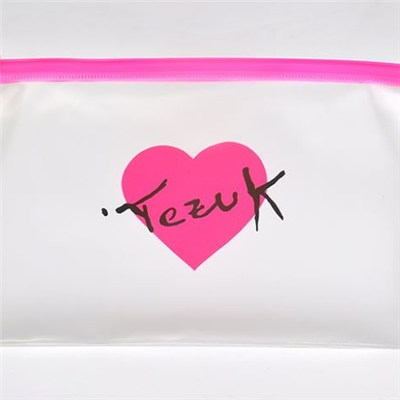 New Design Transparent Clear Pvc Cosmetic Vinyl Bag With Zipper Top