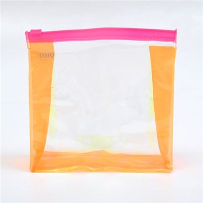 Oem High Quality Beautiful Logo Printed Clear Recycled Pvc Toiletry Bag