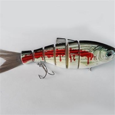 Six Section 5 Inch Bristle Tail Shad Lure