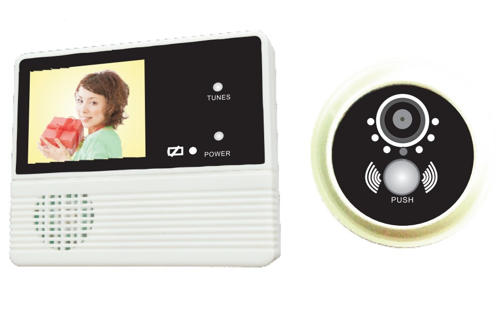 Factory DIY 2.8 inch hotel digital door viewer with doorbell and good night vision GW601C-2AH