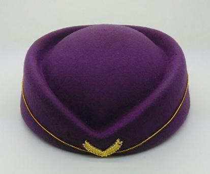 wholesale cheap high quality 100% wool airline hostess cap