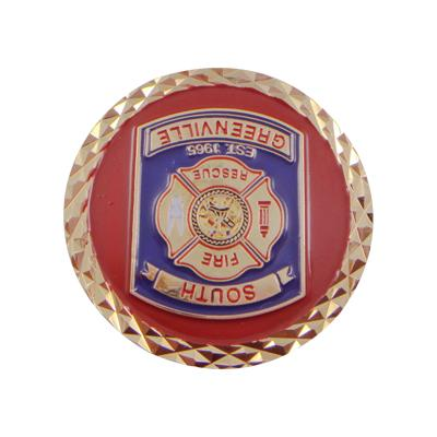 Gold Fire Fighter Souvenir Challenge Coin