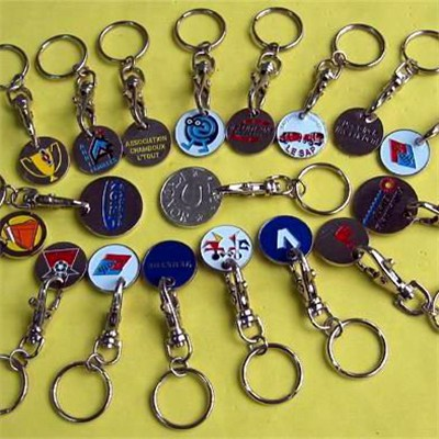Promotion Silver Trolley Token Keychains