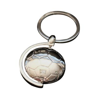 Promotional 3D Football Rotatable Metal Keychain