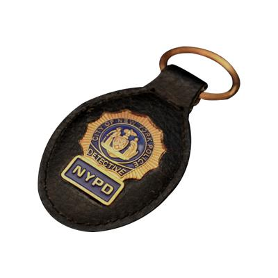 US Police Office Leather Keychains