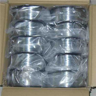 Galvanized stitching wire for book binding