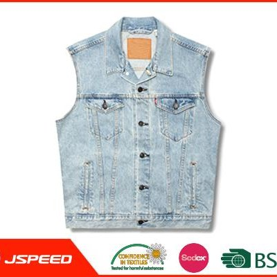 2017 Mens Apparel Light Blue Men Denim Vest Wholesale