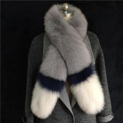 New Style Autumn Winter Elegant Luxury Contrast Color Fake Fur Womens Wraps