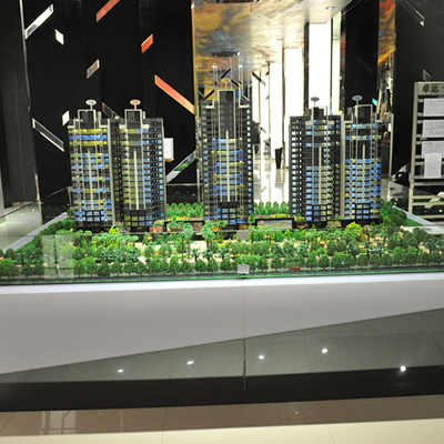 Architectural Design 3d Model Scale For Wanda Plaza Building