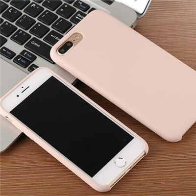 Liquid Silicone Gel Rubber IPhone 7 Shockproof Case With Soft Microfiber Cloth Lining Cushion