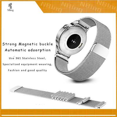Samsung Gear S3 Frontier Stainless Steel Milanese Loop Bands Watch Strap Bands Replacement 22mm