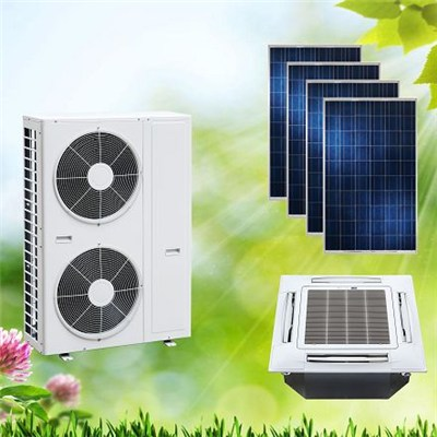 ACDC on Hybrid Grid Solar Air Conditioner Cassette for Home