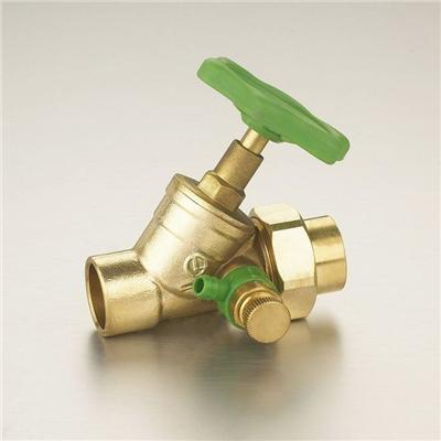DN12-DN28 Brass Glove Valve(Oblique Stop Valve) Polishing Surface Plastic Handle Straight-flow With Drain Valve