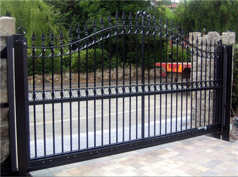 Yishu metal factory price wrought  iron sliding gate designs for homes