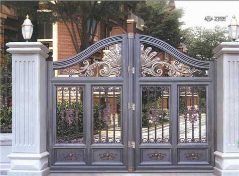 latest decorative aluminum casting house main gate design