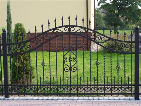 Yishujia factory small short wrought iron fence panels for garden