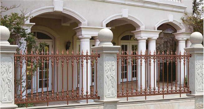 Outdoors used ornamental cast customized aluminum fence
