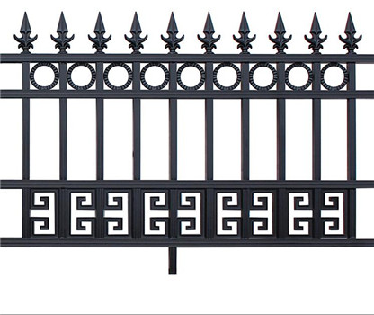 European aluminum fence designs with matt black color