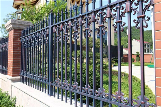factory wholesale decorative metal fence panels with die casting  aluminum parts