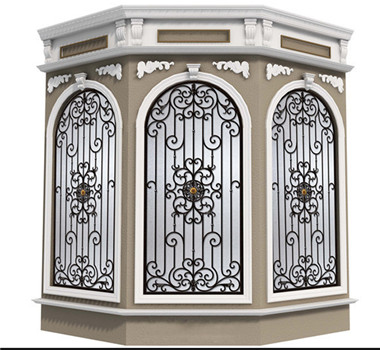 Italian style exterior new design modern wrought iron window grill