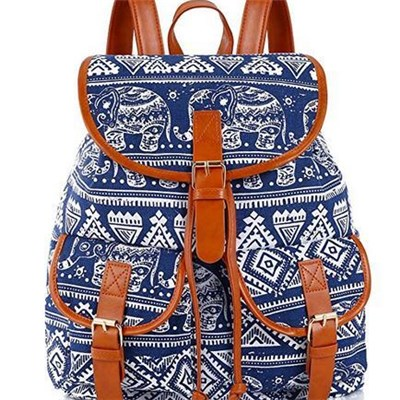 Women Girls Students Casual Jeans Backpack Or Daypack