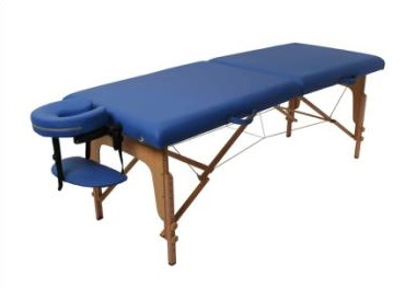 2 Section Round Corner Best Sales Adjustable Wooden ECO Cheap Leisure Folding Portable Massage Table With All Accessories