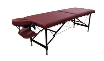 2 Section Round Corner Best Sales Adjustable Aluminimum ECO Cheap Leisure Folding Portable Massage Table With All Accessories