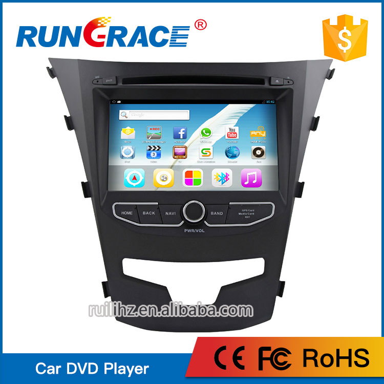 Multi-functionfor android 7'' double din car audio for Ssangyong korando