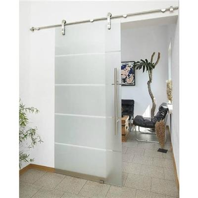 Double Barn Style Stainless Steel Sliding Door Rail Track Hardware System