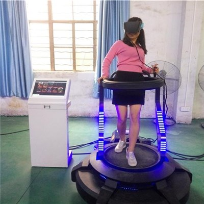 Coin Operated Vibrating VR Simulator With 360 Degree Rotating Platform 9D VR Game Machine