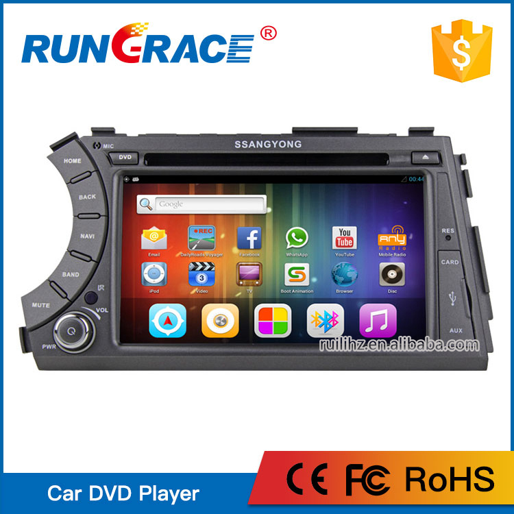 7'' Touch Screen Ssangyong car radio android dvd player for Actyon/Korando pick up