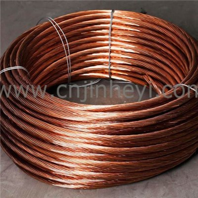 Continuous Casting Bare Copper Clad Steel Stranded Wire | Cable | Mesh