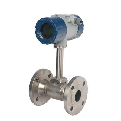 Vortex Flow Meter With SS304 Sensor Application In Steam Flange Connection