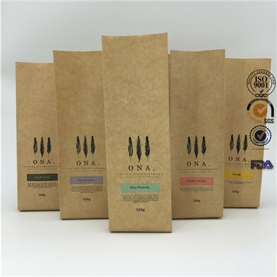Kraft Paper Pouch Side Gusset Coffee Bag