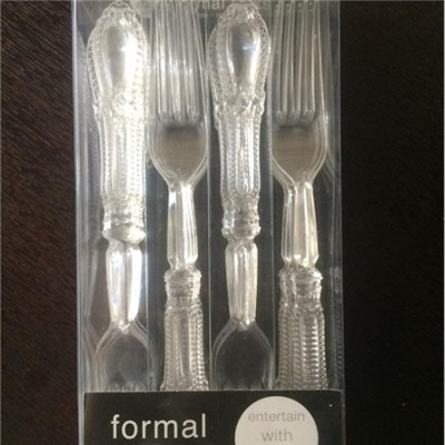 PVC Box Retail Package Cutlery PVC