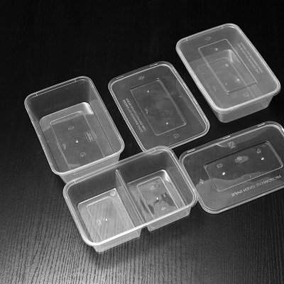 1000ml PP Square Plastic Container For Take Away