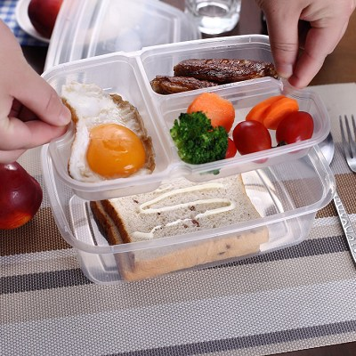 Compartments 750ml Square Food Container