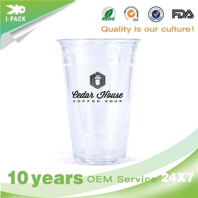 8 Oz Logo Printing On Coffee Plastic Cups Supplier