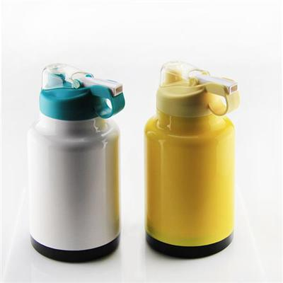 30OZ Double Wall PP Vacuum Water Bottle Recycle Water Bottle Vacuum Flask With Straw And Handle