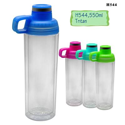 Most Popular Designs H544 550ML Tritan Double Wall Pitcher Fruit Big Capacity Infuser Water Bottle