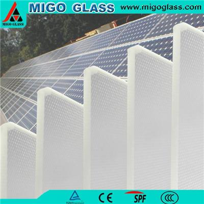 Toughened solar panel glass with GB15763.2-2005/ISO 9050/UL1703/EN12150/RoHS inspection