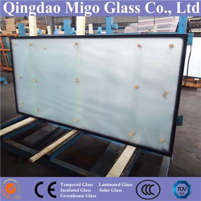 3.2mm 4.0mm Tempered Solar Collector Glass With Black Dots Frame