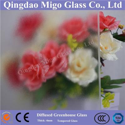 High Haze Tempered Diffused Greenhouse Glass With TUV/SGS Certificates