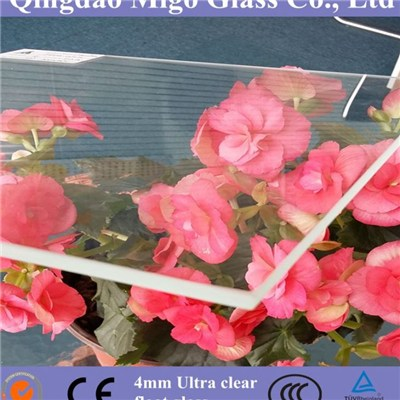 4mm Toughened Ultra Clear (Low Iron) Float Glass For Glass Greenhouse
