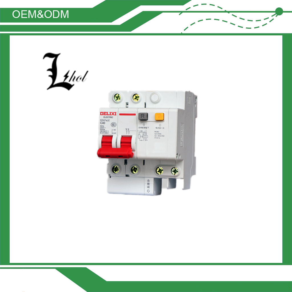 DELIXI Earth Leakage Residual Current Circuit Breaker RCCB DZ47sLE